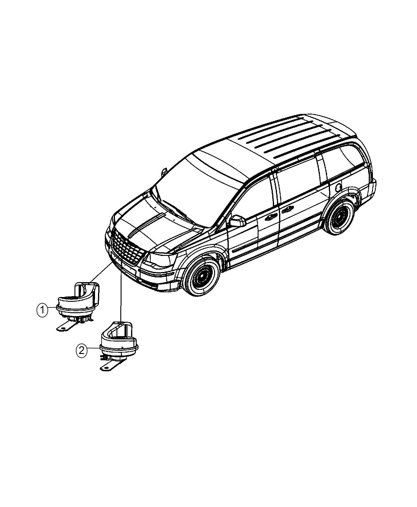 Chrysler Town Amp Country Horn And Bracket High Note Jjb