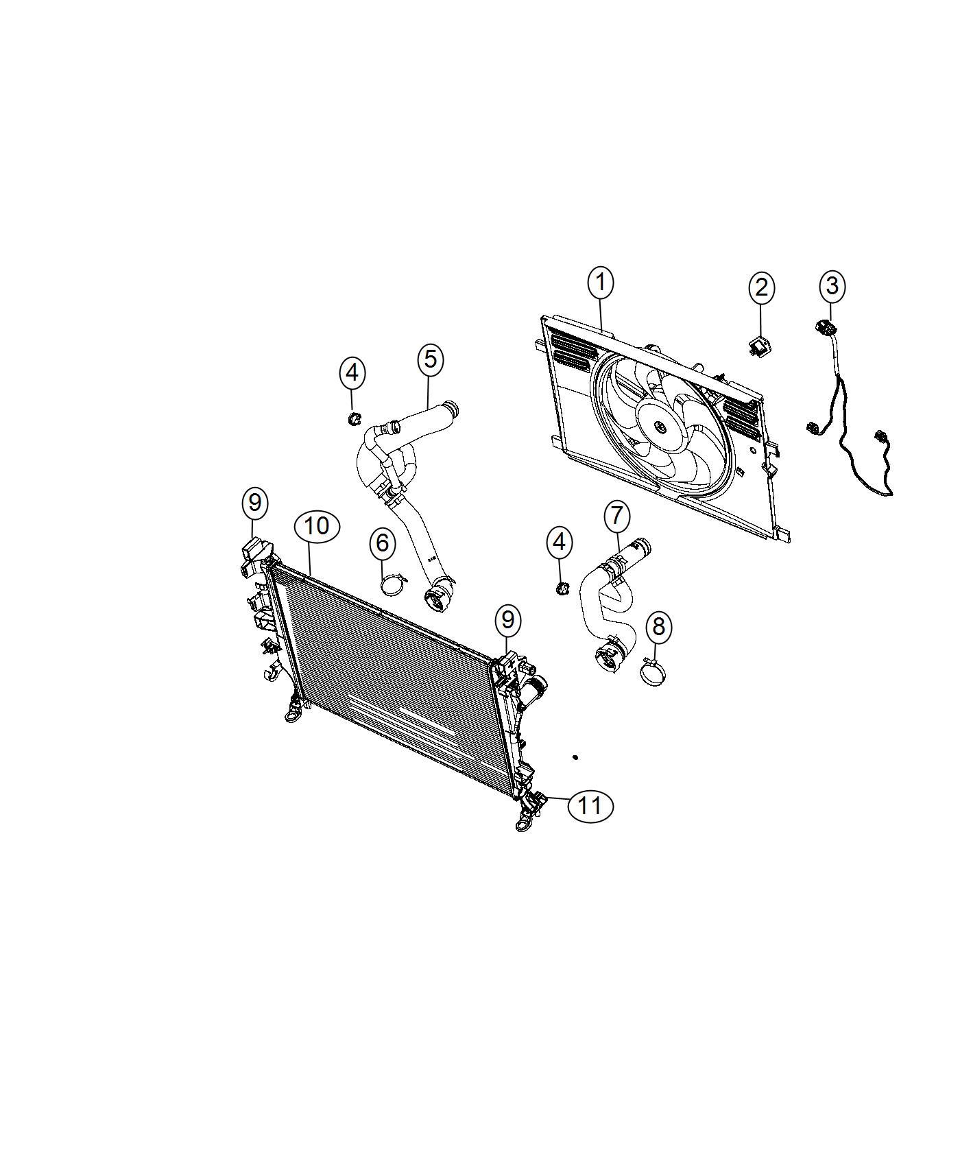 2016 Jeep Resistor. Radiator fan. Export. [air