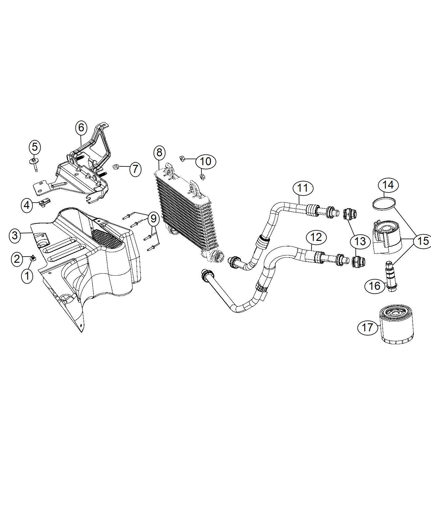 Dodge Charger Cooler Engine Oil Esd