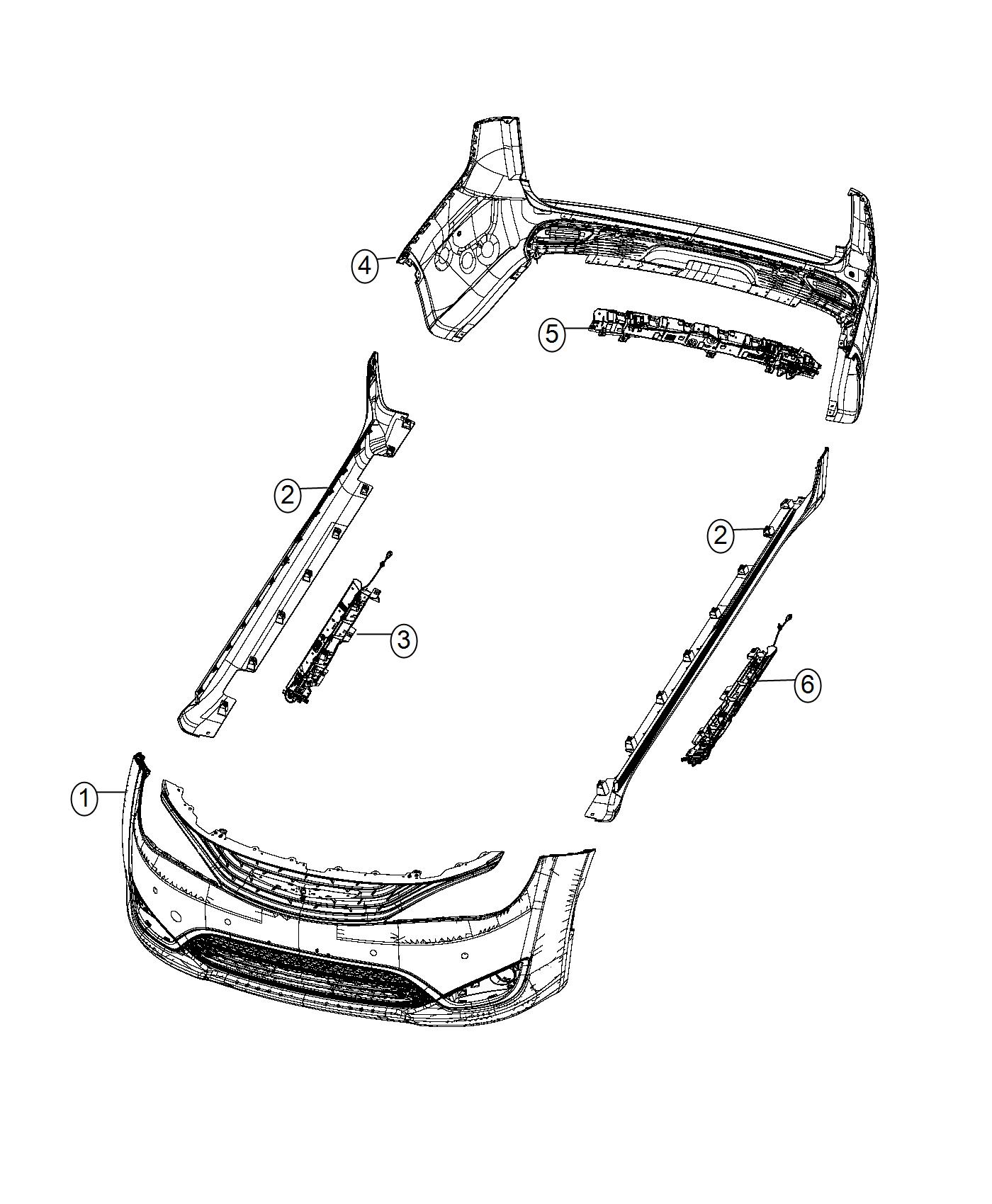 Chrysler PACIFICA L HYBRID Hands free assembly. Liftgate