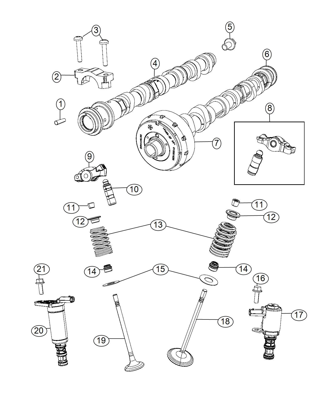 2017 Chrysler Pacifica Solenoid. Variable valve lift