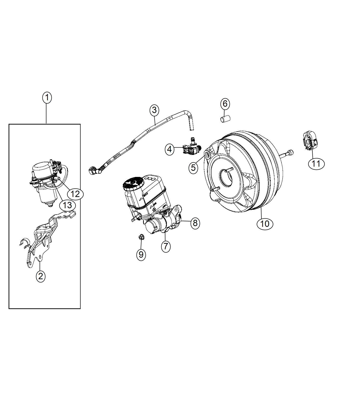 Chrysler 200 Hose Brake Booster Vacuum