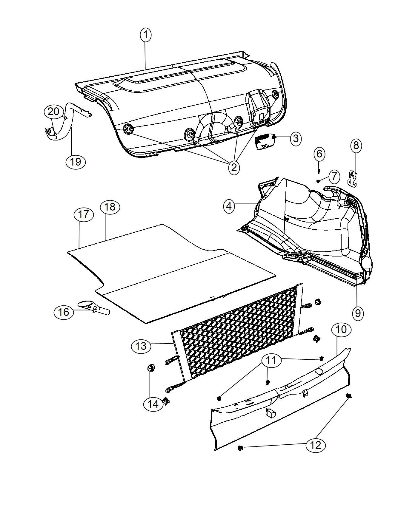 2017 Chrysler 300 Door. Fuel filler manual access