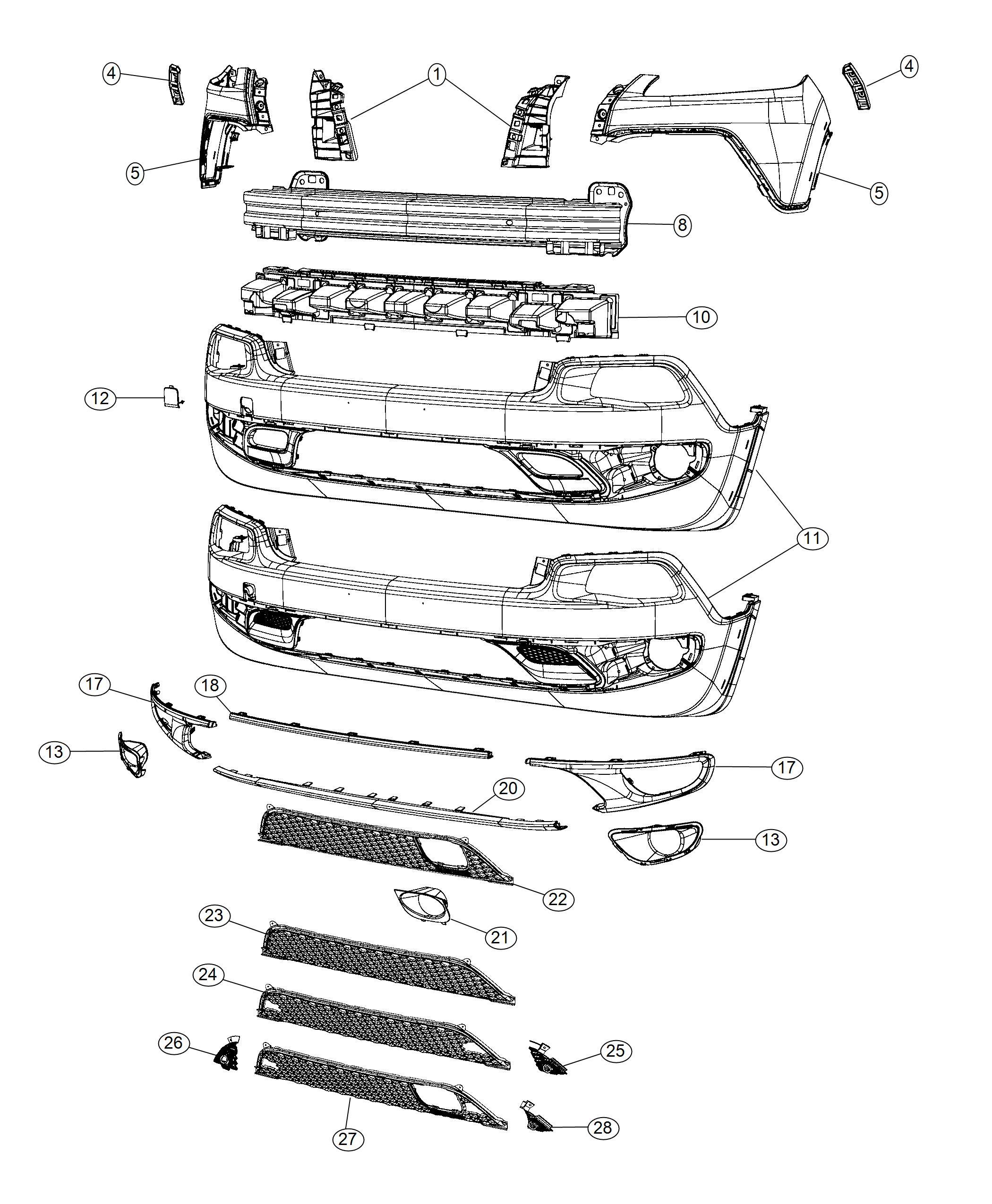 Jeep Cherokee Applique Fascia Color No Description