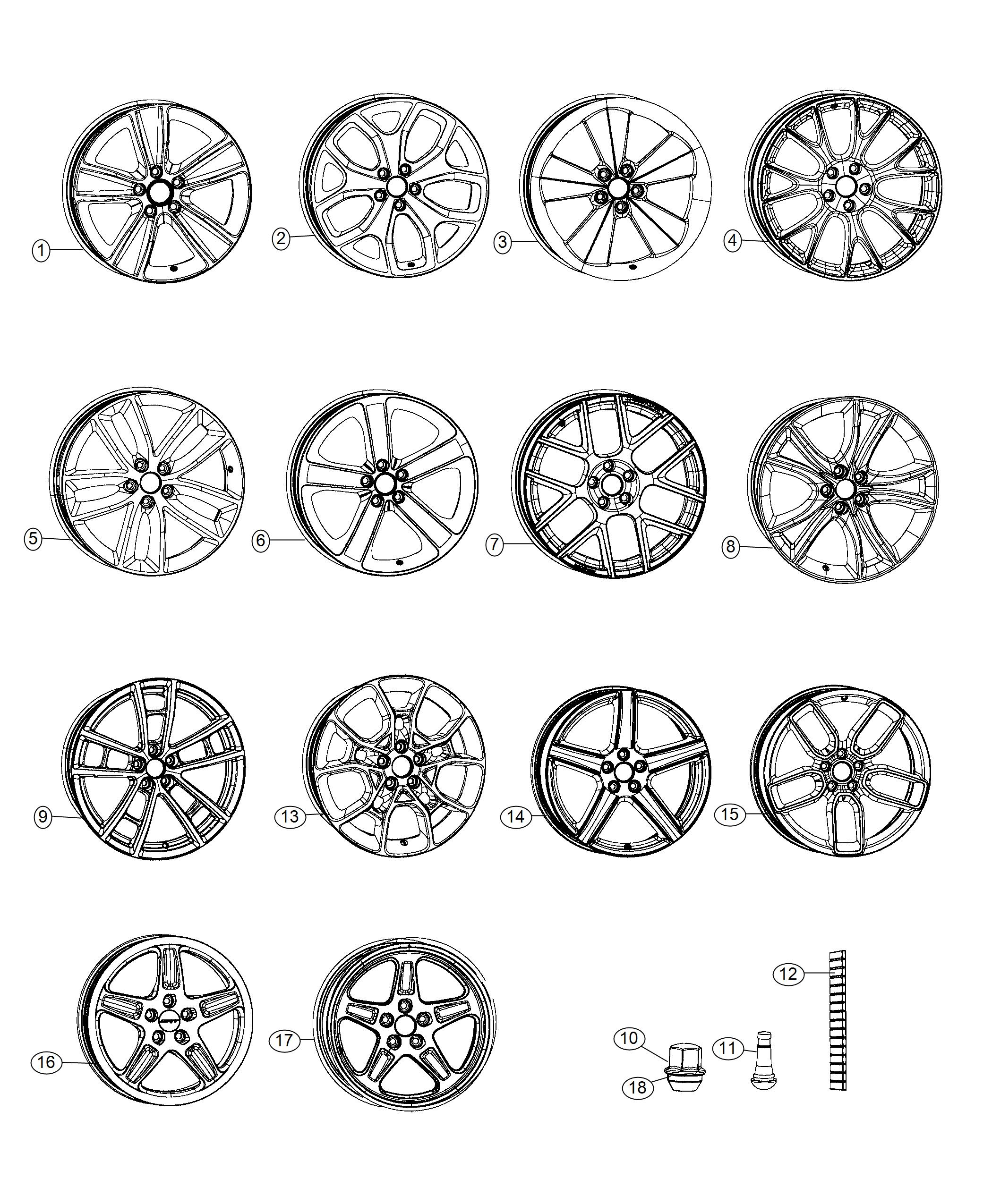 Dodge Challenger Wheel. Aluminum. Front or rear. [tire and