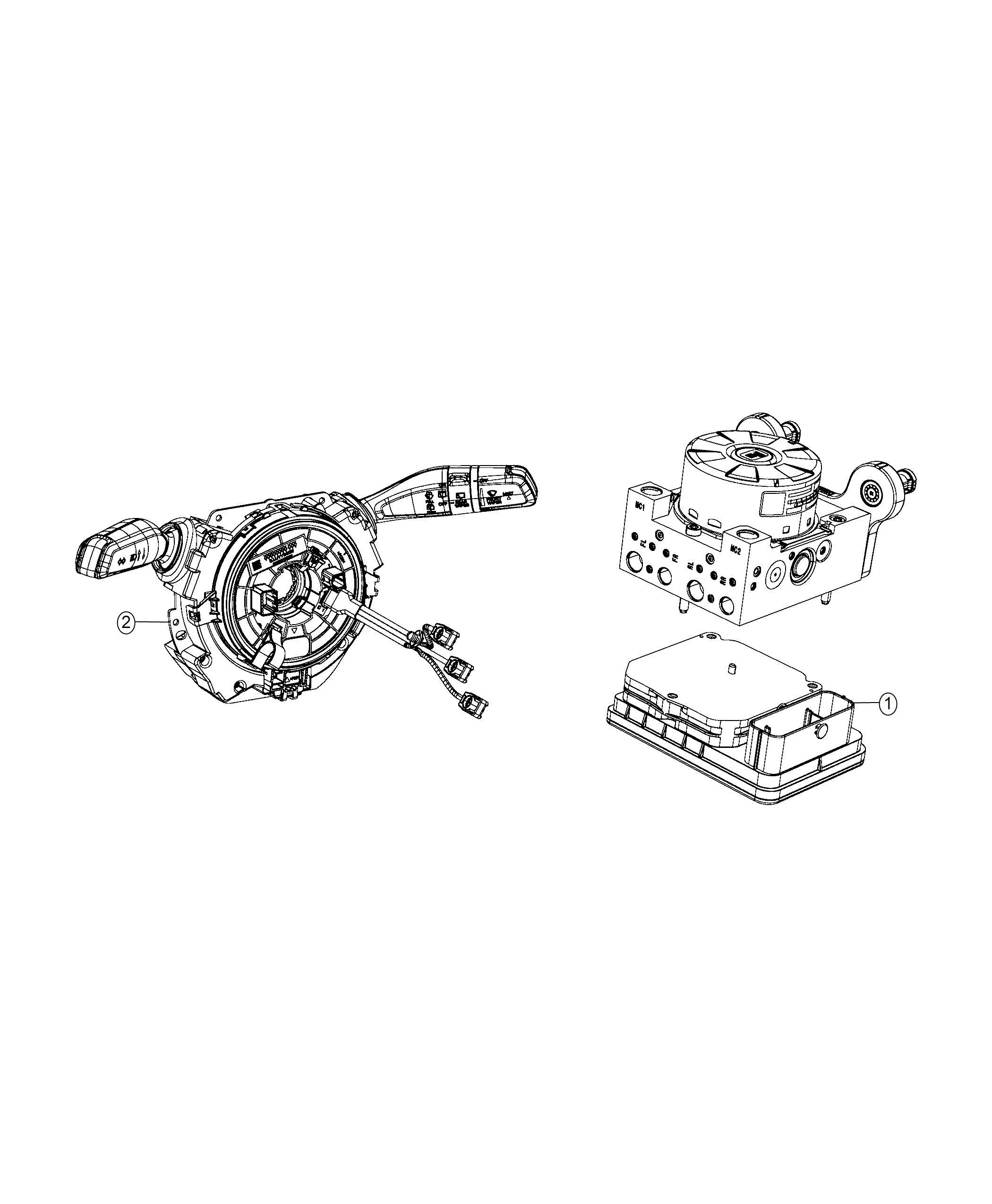 2018 Jeep Wrangler Module. Steering column. [instrument