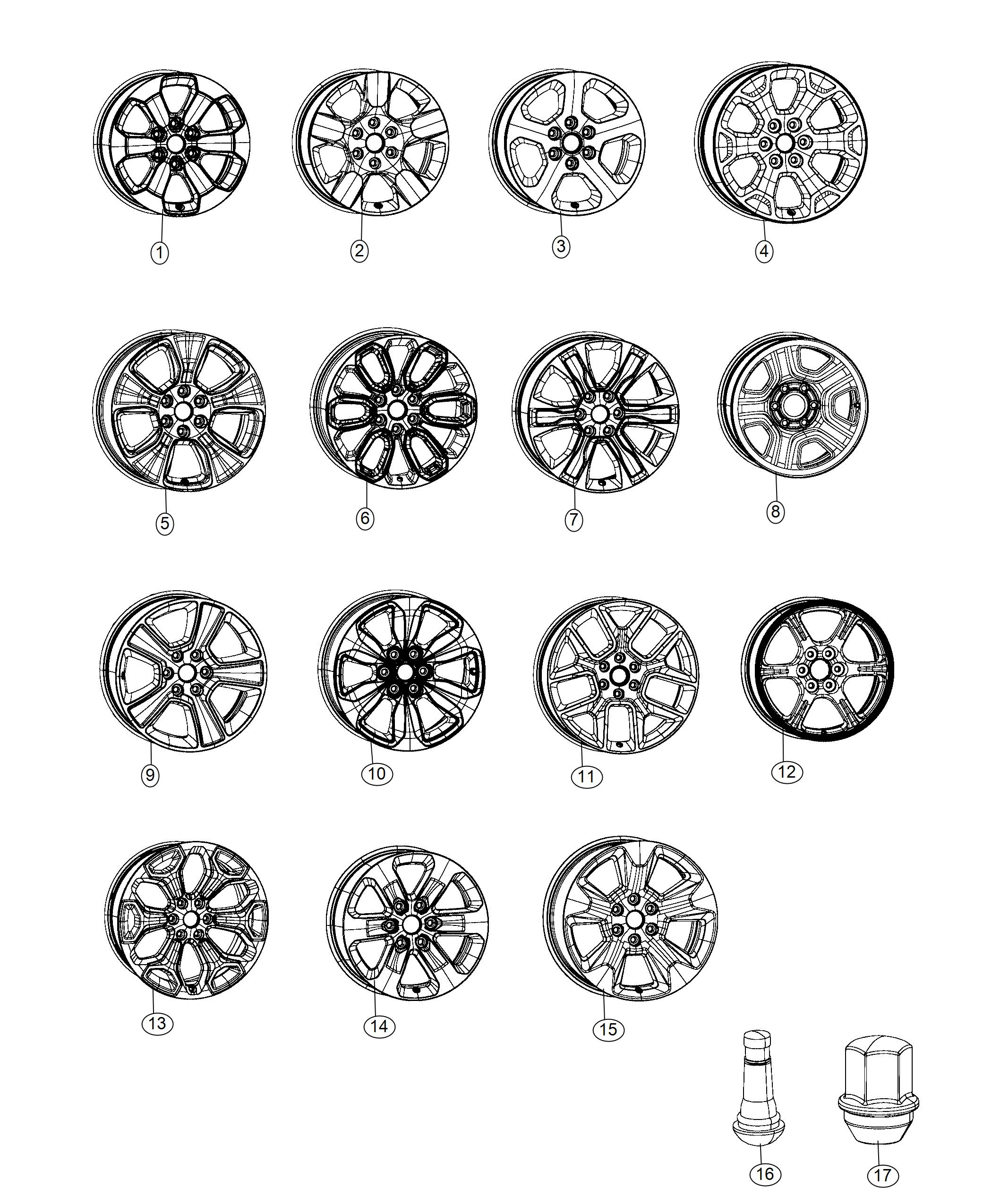 Ram Wheel Aluminum Front Or Rear Color No
