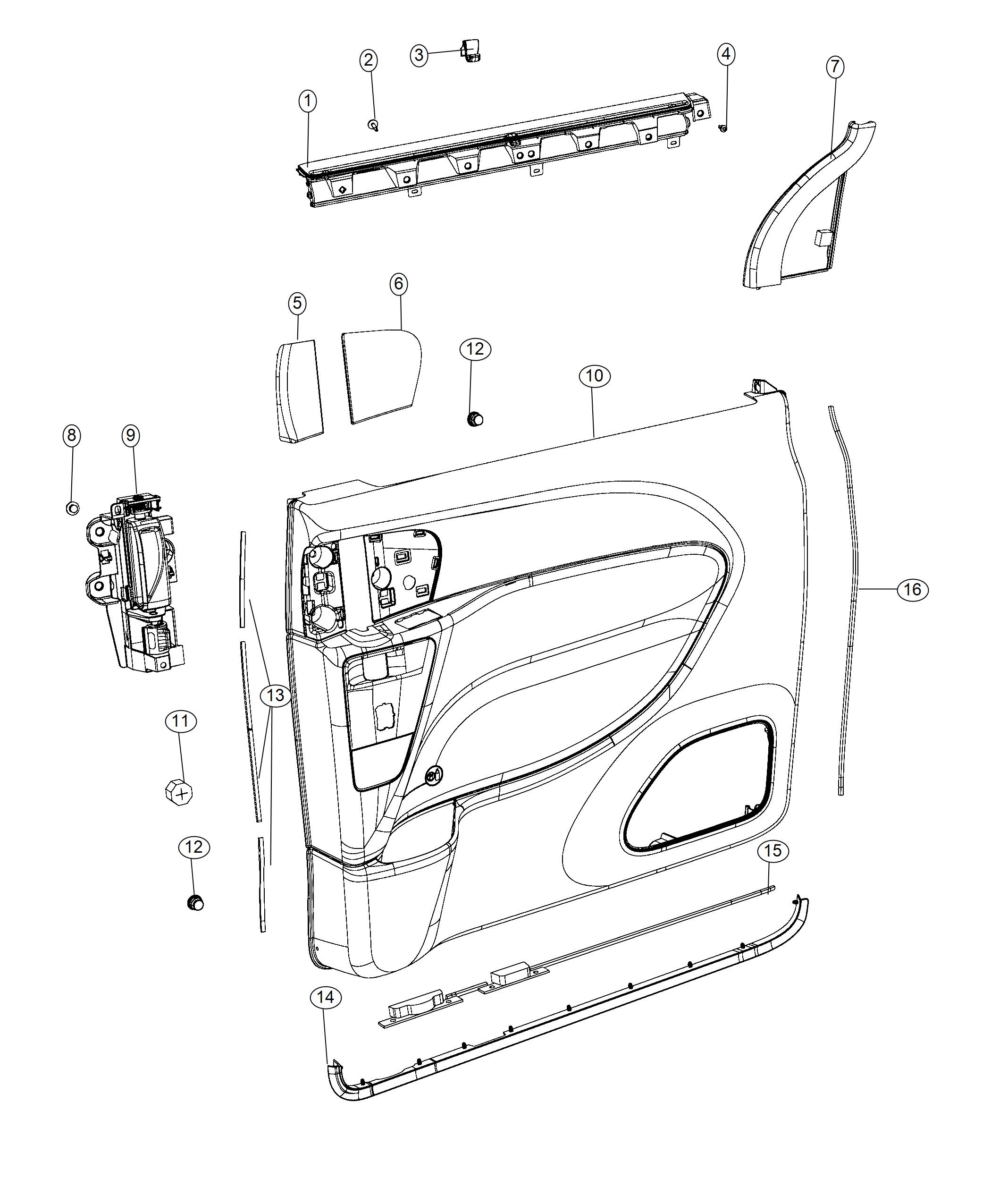 Chrysler Pacifica Hook. Window shade. Right or left. Trim