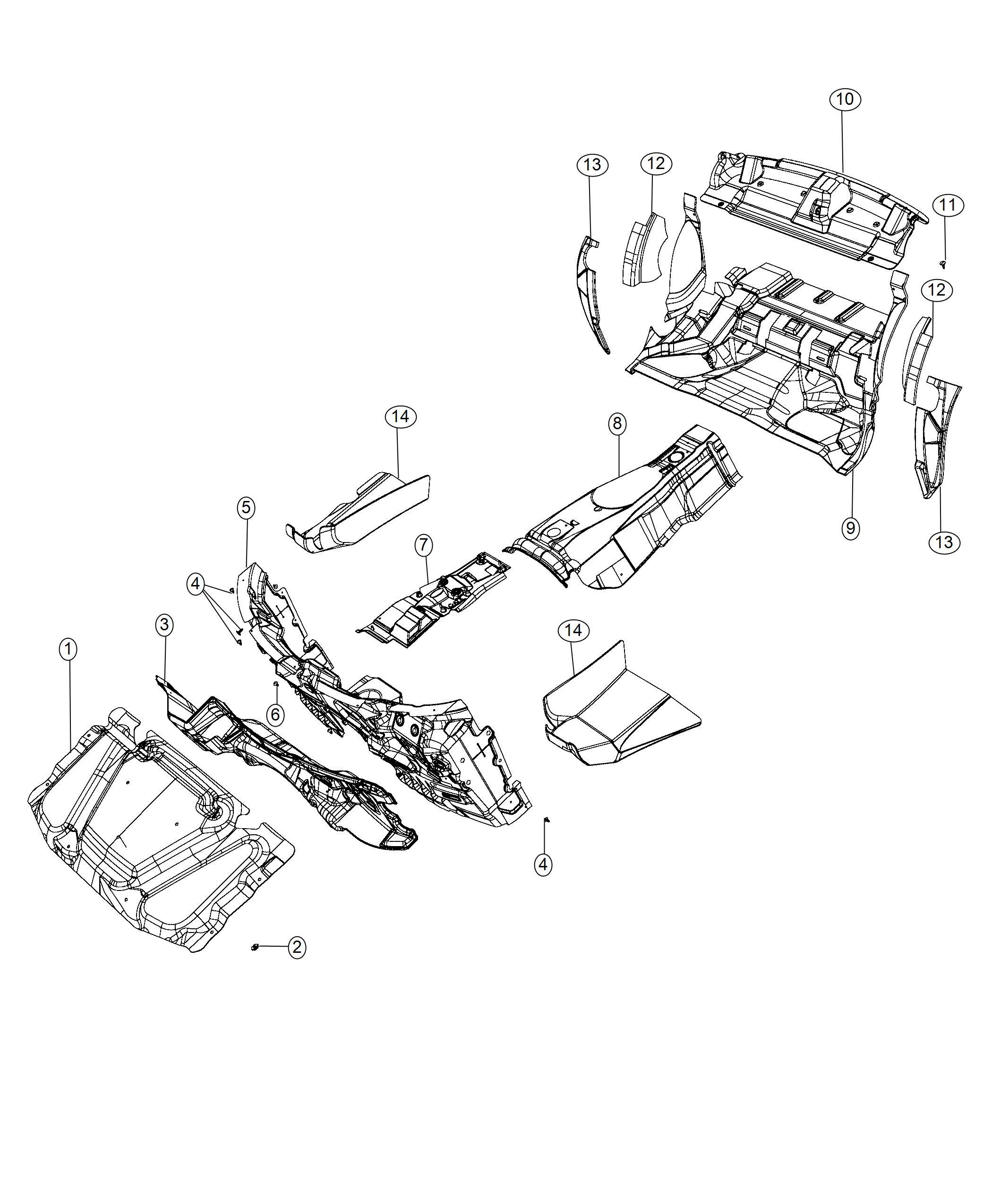 Dodge Challenger Silencer Wheelhouse Left