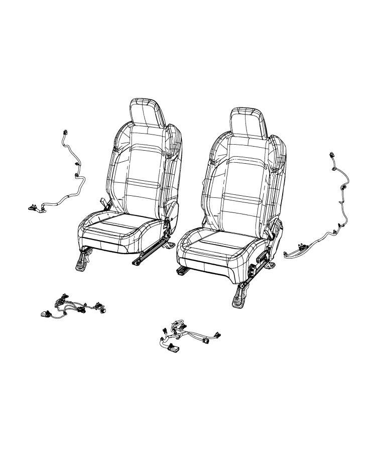2020 Jeep Gladiator Wiring. Seat air bag. [seat parts