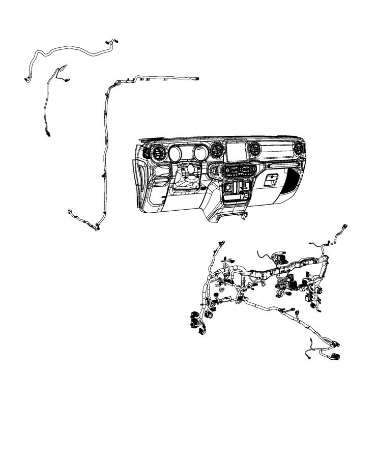 2020 Jeep Gladiator Antenna cable. Sdars. [gps antenna