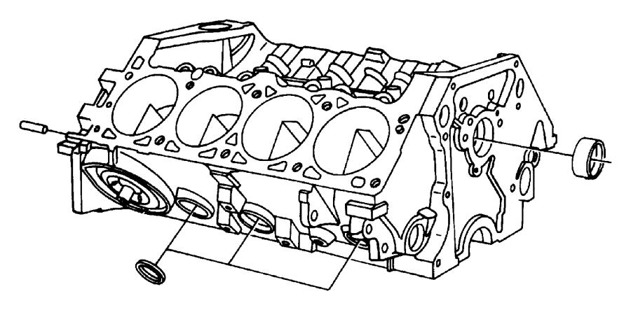 Engine Cylinder Block And Hardware 5.7L [EZC]