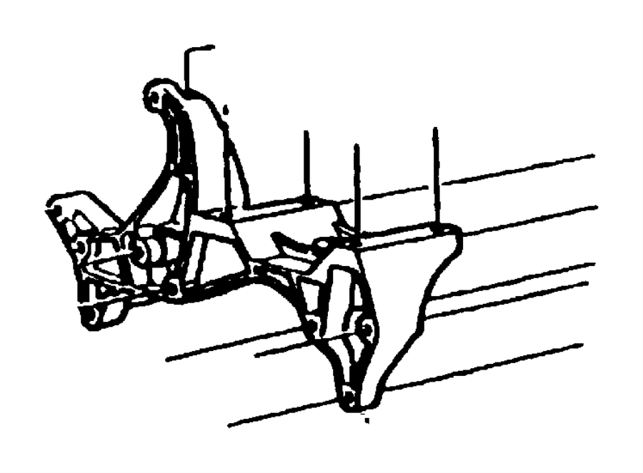 1996 Jeep Grand Cherokee Bracket. Used for: alternator and