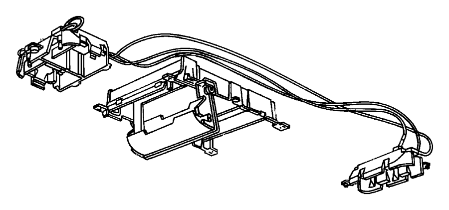 1998 Jeep Grand Cherokee Wiring. Overhead console. Console