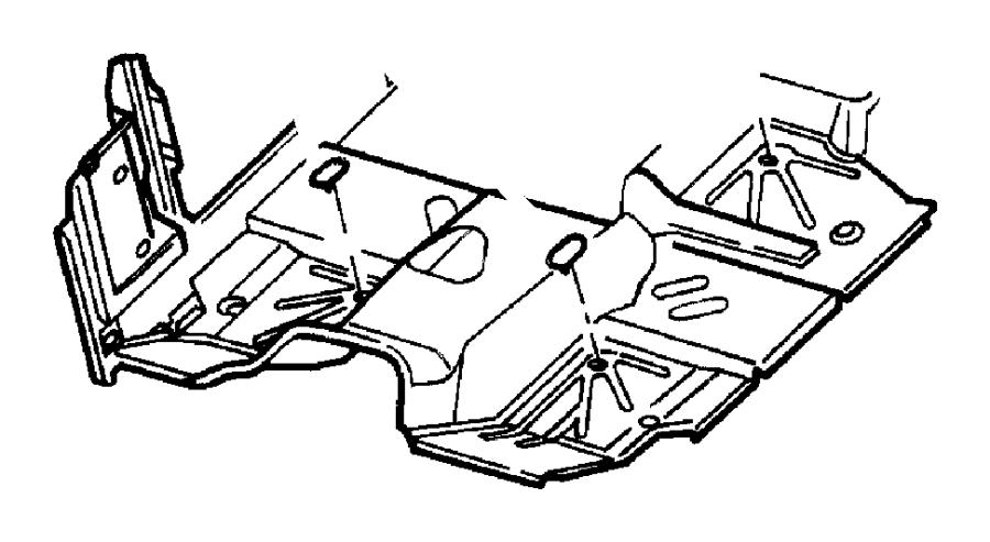 Chrysler 300 Plug. Floor pan, front, frt flr pan man shift