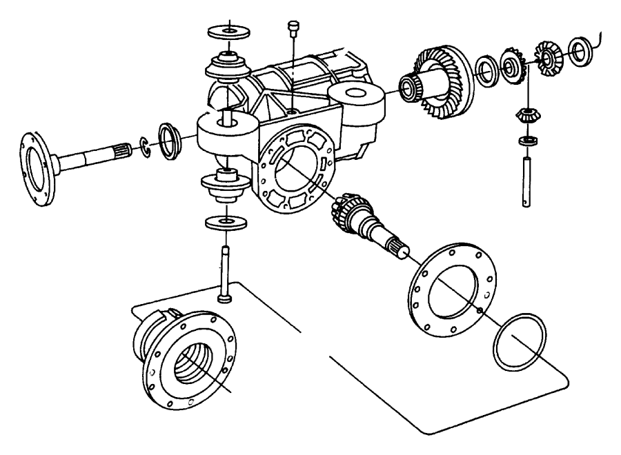 Dodge Grand Caravan Shaft. Pinion gear, transmission