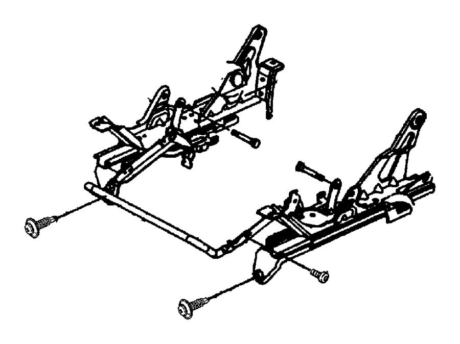 2000 Chrysler 300 Adjuster. Manual seat. Left. Inboard