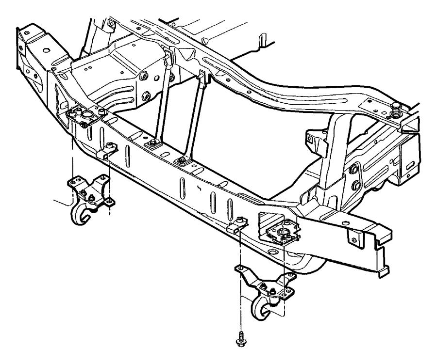 Dodge Ram 1500 Bolt. Hex head. M12x1.75x45. Front bumper