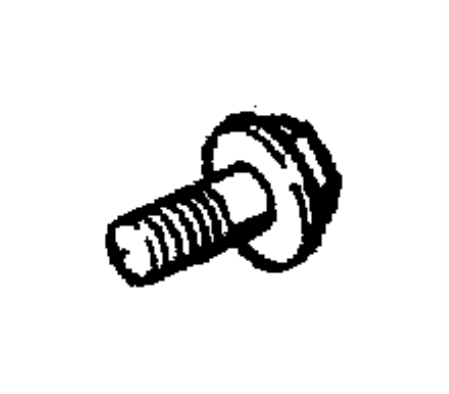 1996 Dodge Screw, used for: bolt and washer. Hex head