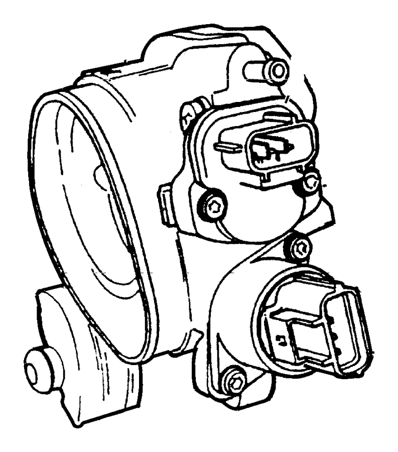 Chrysler 300 Sensor. Throttle position. Egg, egw, egc