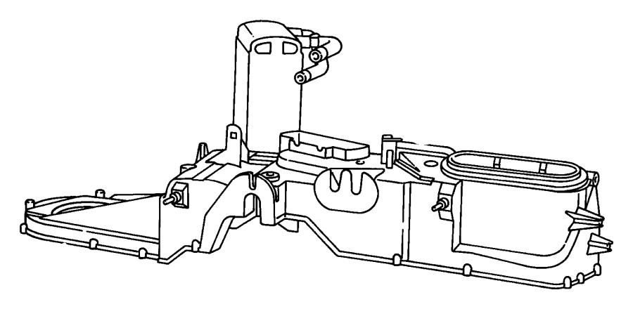 2000 Dodge Evaporator, evaporator package. Air
