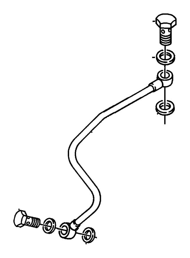 Dodge Ram 3500 Washer. Fuel line banjo. Dieselengine