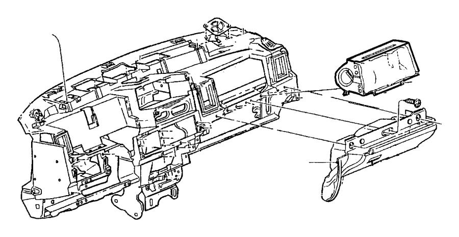 Chrysler Pacifica Latch. Glovebox door. Door assembly