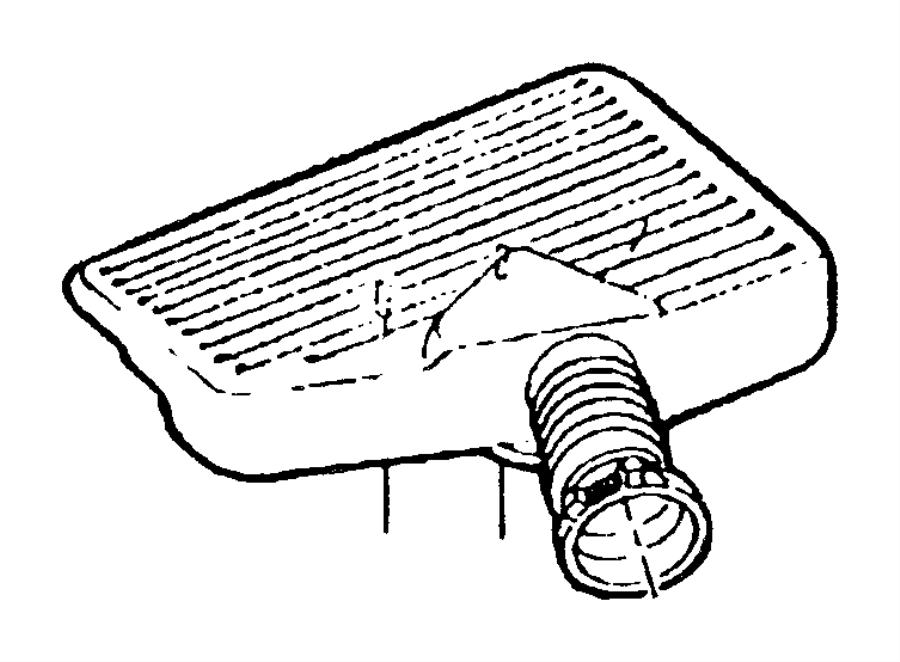 Jeep Grand Cherokee Resonator. Air cleaner. Resonator, air