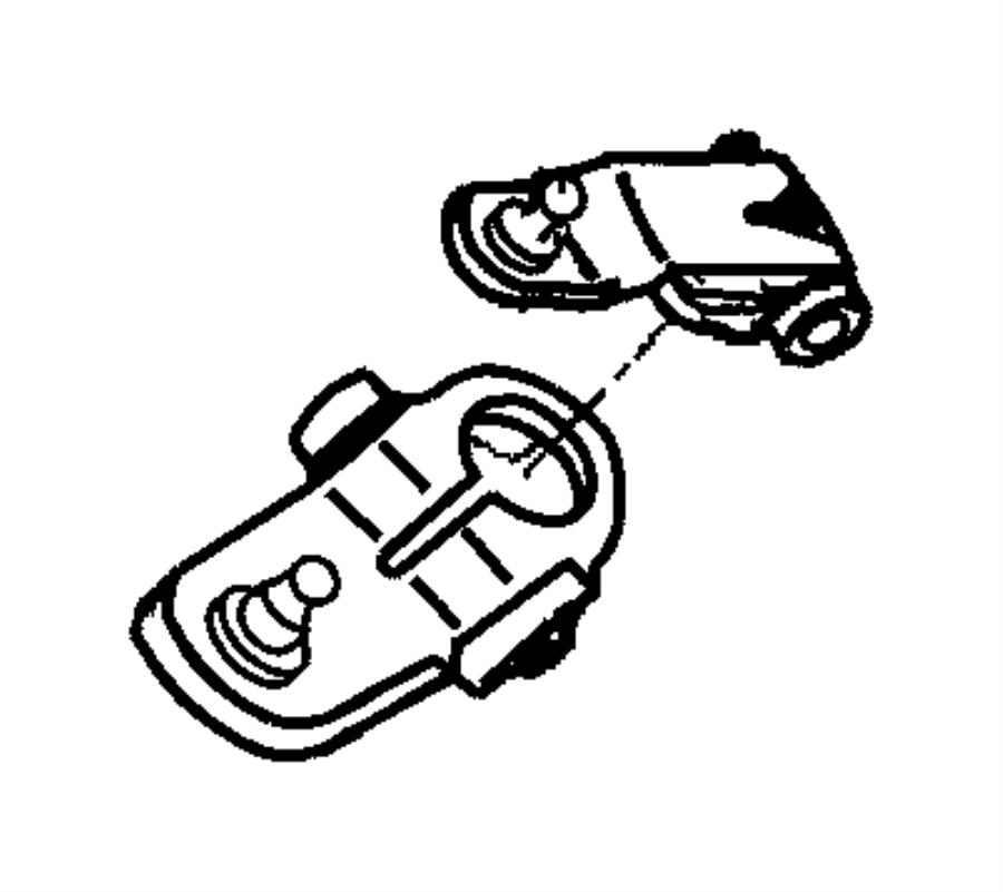 Dodge Ram 2500 Lever. Manual control. Lever, manual