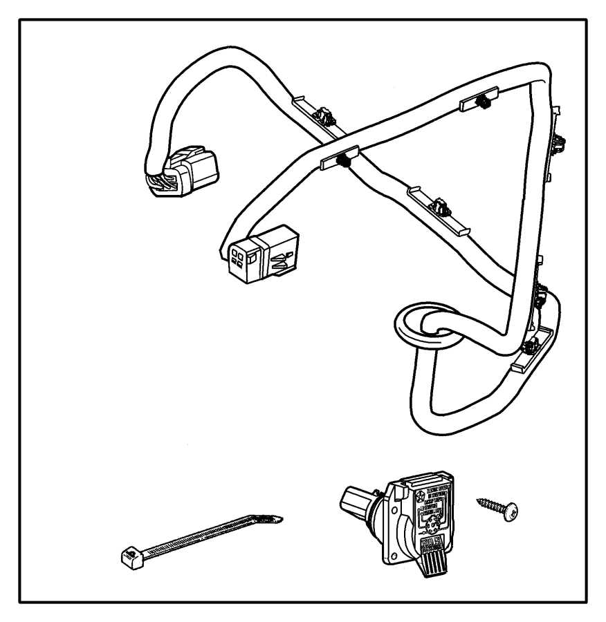 2016 Dodge Grand Caravan Wiring. Trailer tow. Directly
