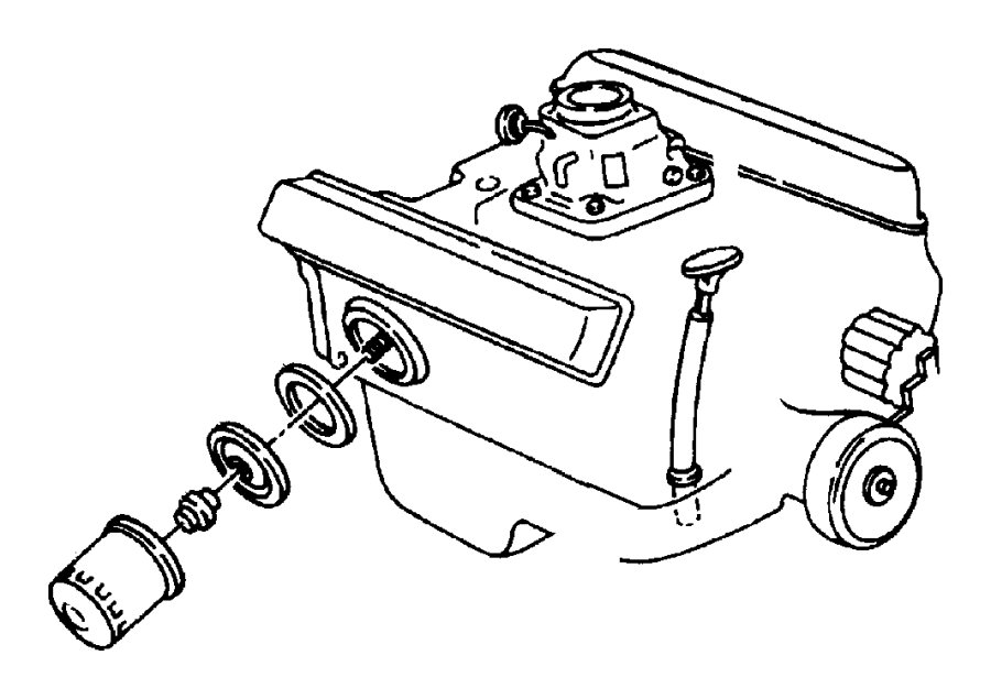 Dodge Ram 1500 Gasket. Oil filter adapter. Gasket, oil