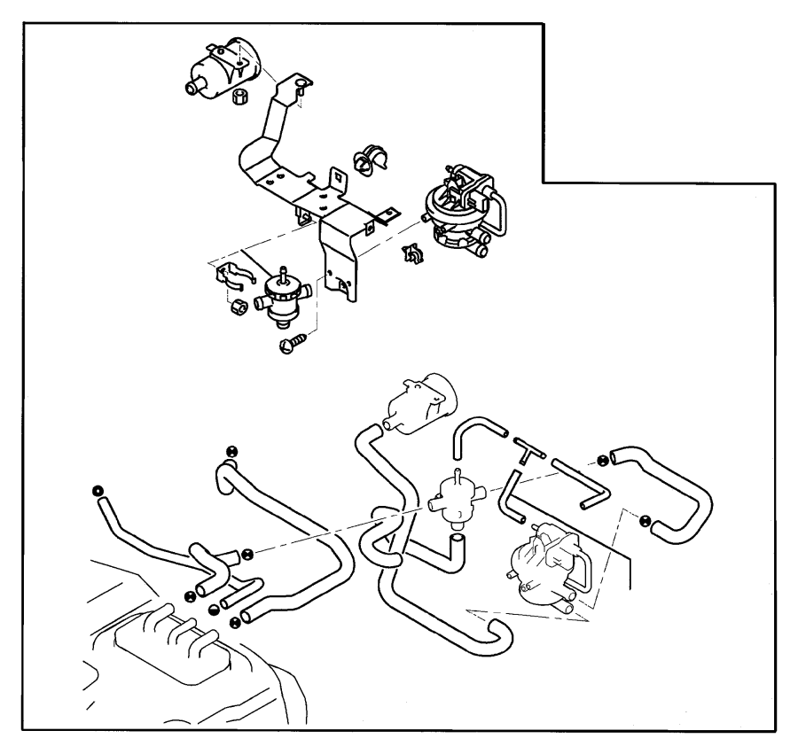 Dodge Stratus Filter. Fuel vapor vent, leak detection pump