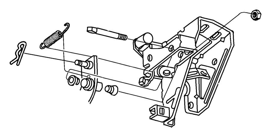 Dodge Ram 2500 Bracket. Manual transmission. Clutch and