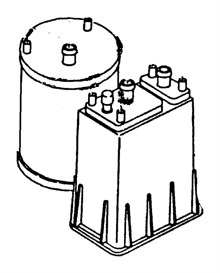 Dodge Ram 1500 Canister. Vapor. Square, square canister