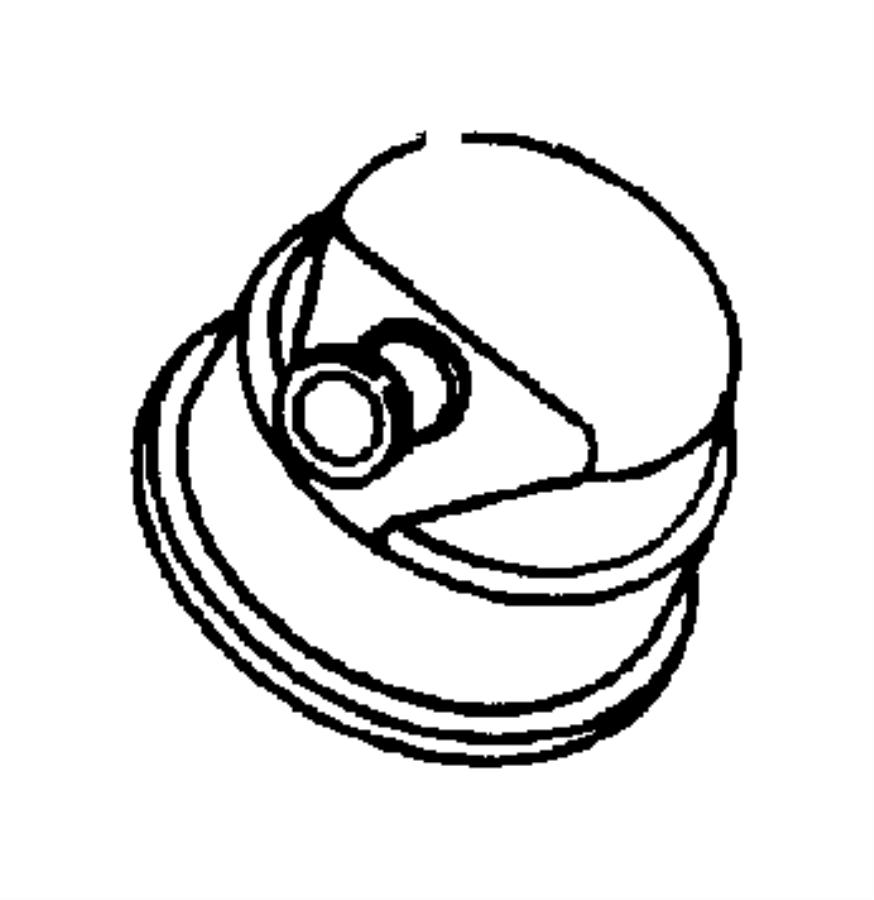 Dodge Dakota Filter, fitting. Crankcase vent, crankcase