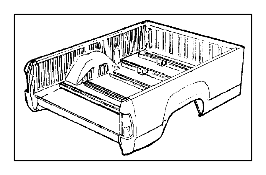 Dodge Ram 2500 Box, panel. Right. Box side, pickup. Pemsa