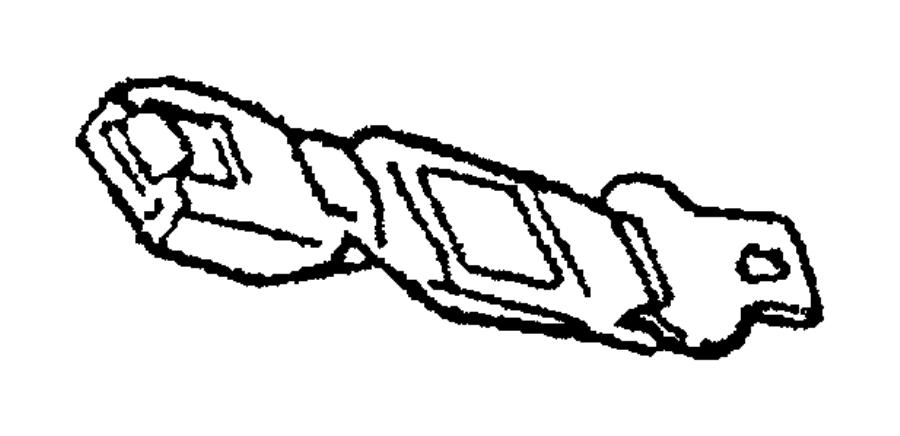 Dodge Grand Caravan Extender. Seat belt. Front and rear