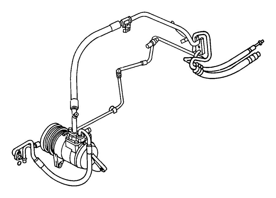 Dodge Grand Caravan O ring. A/c line, a/c liquid line