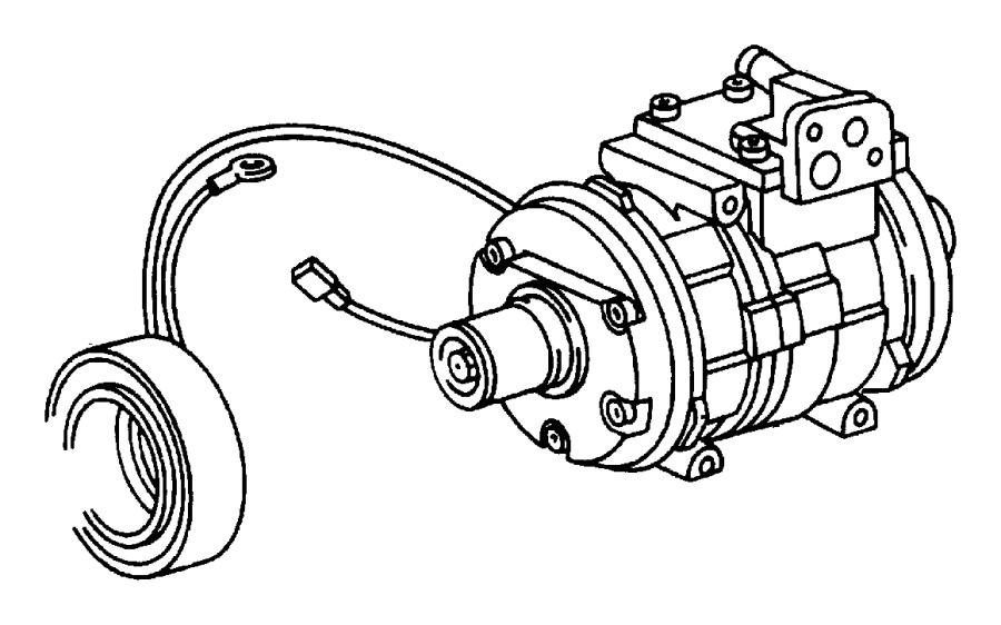 2007 Chrysler Aspen Coil. Air conditioning clutch
