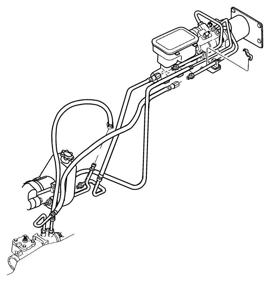 Dodge Grand Caravan Clip. Cooler line, power steering hose