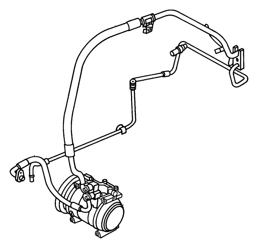 Chrysler Pt Cruiser Cap. A/c check valve. Discharge