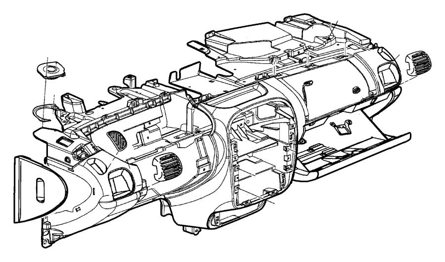 Dodge Ram 1500 Glove box. Instrument panel. [l5], [l5