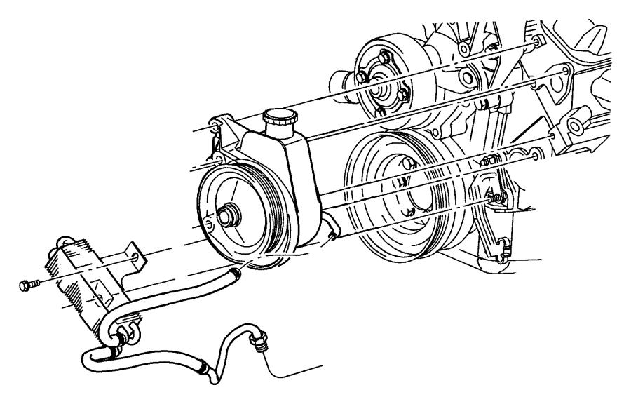 Dodge Durango Cooler. Power steering. Hosespower