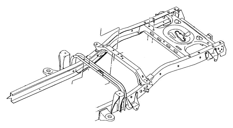 1998 Dodge Dakota Frame.