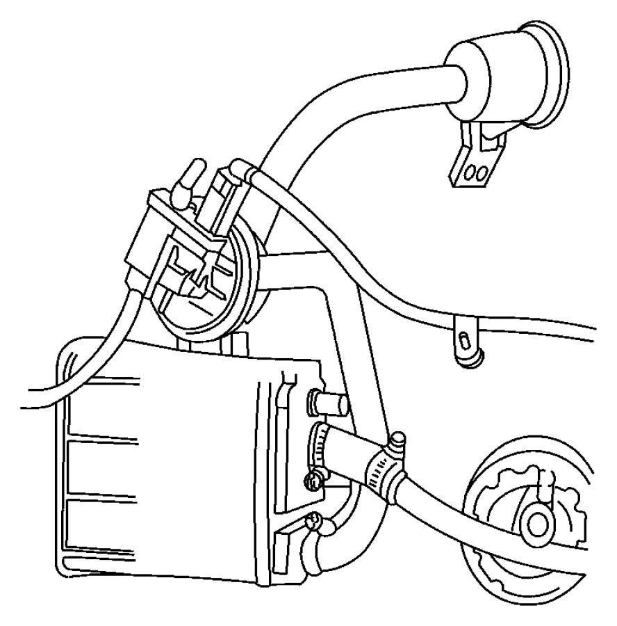 2002 Chrysler Hose. Leak detection pump to canister