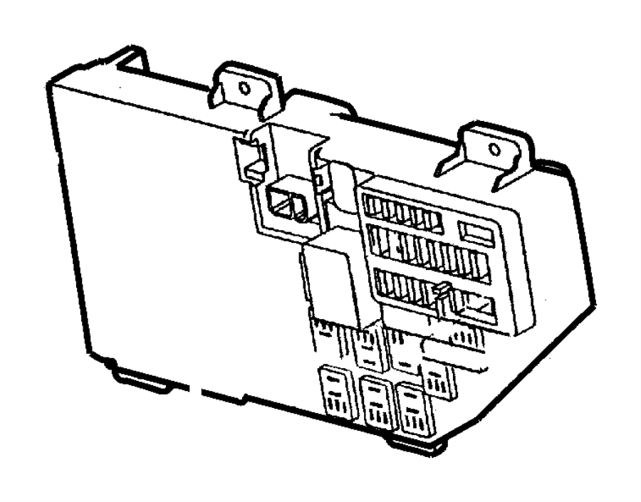 Dodge Intrepid Junction block. Instrument panel