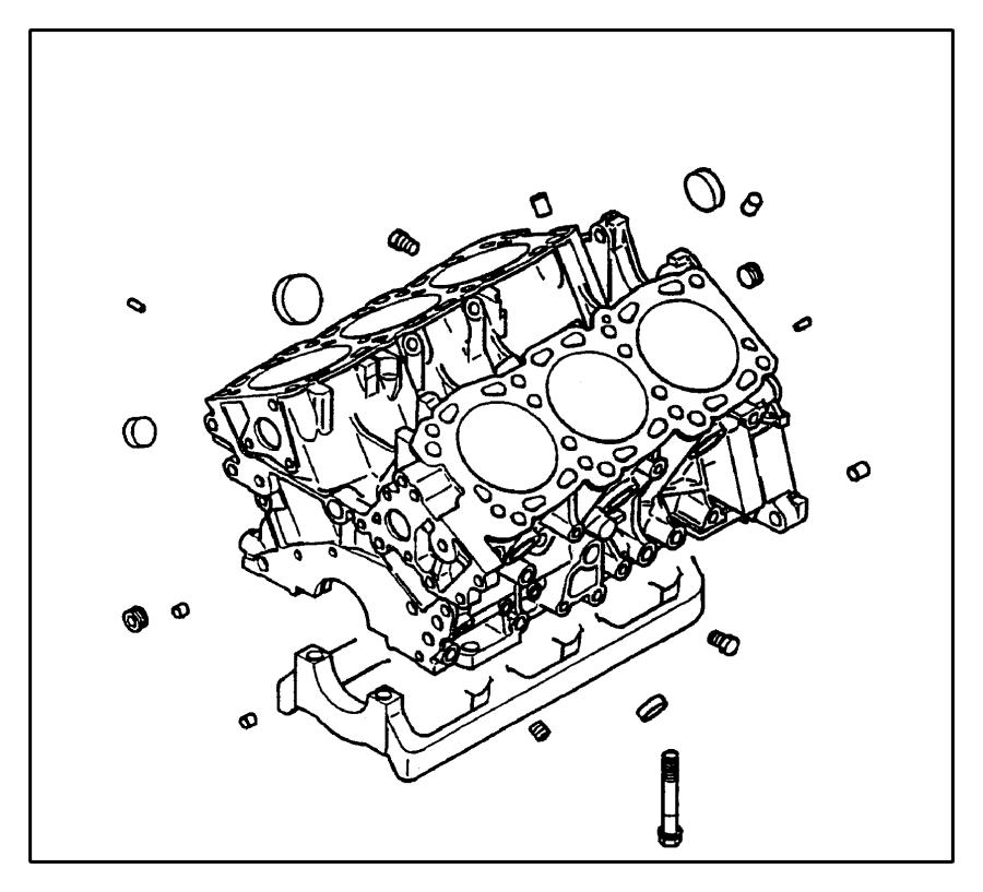 Chrysler Town & Country Gasket. Oil filter bracket