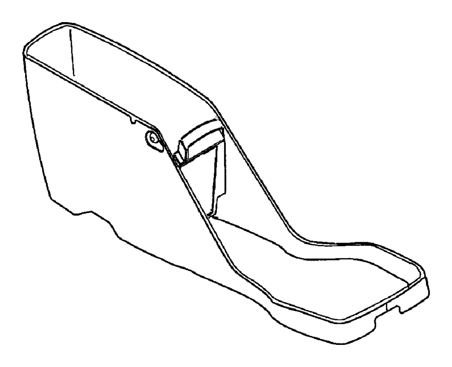 Dodge Dakota Button, console. Armrest latch, base. Trim