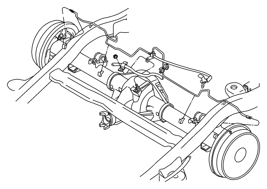 2000 Dodge Durango Tube. Brake. Right, right rear. [axle