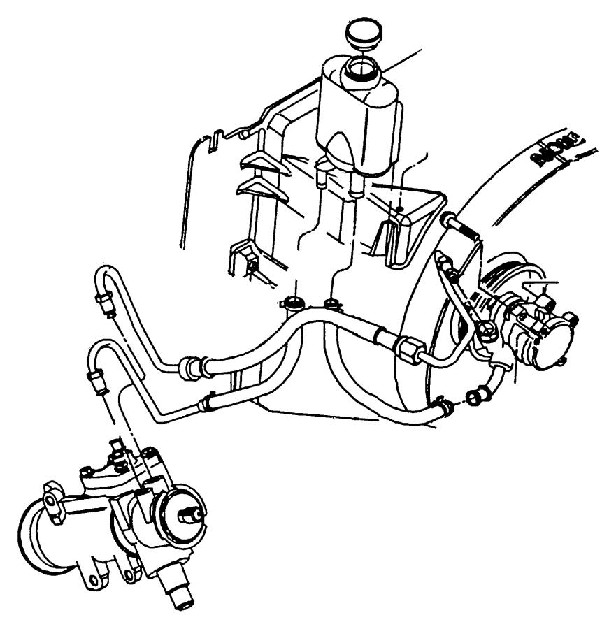 1999 Jeep Wrangler Hoses and Reservoir, Power Steering